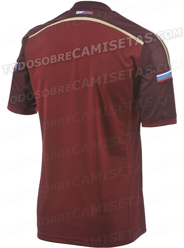 russia world cup shirt back Russia World Cup Home Shirt For Brazil 2014: Leaked [PHOTOS]