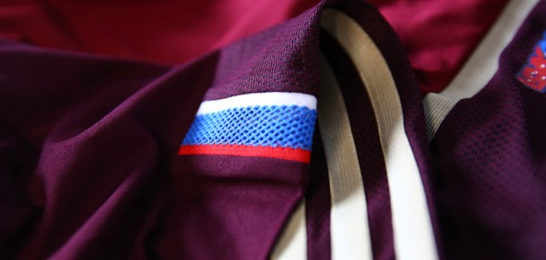 russia world cup shirt closeup 600x286 Russia World Cup Shirt For World Cup 2014 From adidas: Official [PHOTOS]