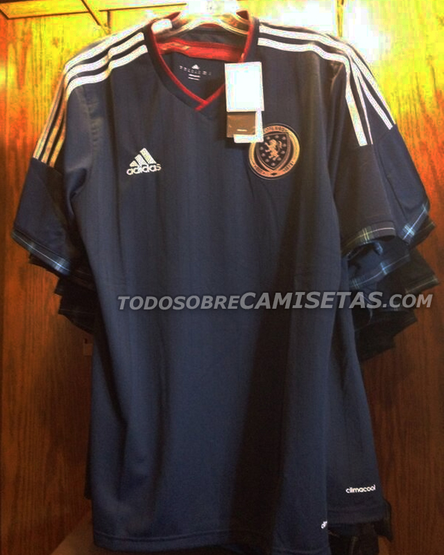 scotland home shirt Scotland Home Shirt for 2014/16: Leaked [PHOTO]