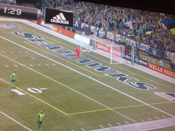 seattle sounders field 600x450 MLS Cheapens Soccer Viewing Experience By Playing Games On Gridiron Lines [PHOTOS]