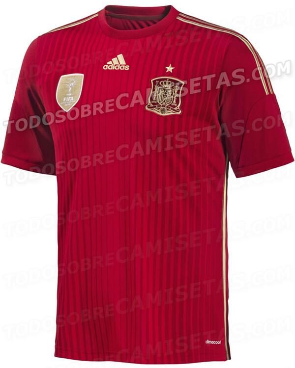 spain home shirt Spain World Cup Home Shirt for 2014 Brazil: Leaked [PHOTO]