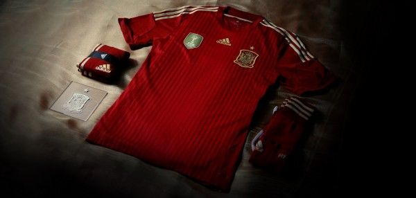 spain world cup shirt 600x286 Spain 2014 World Cup Shirt From adidas: Official [PHOTOS]