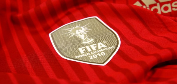 spain world cup shirt fifa crest 600x286 Spain 2014 World Cup Shirt From adidas: Official [PHOTOS]