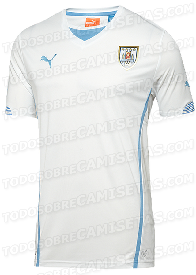 uruguay away shirt world cup Uruguay World Cup Home and Away Shirts For 2014 From Puma: Leaked [PHOTOS]
