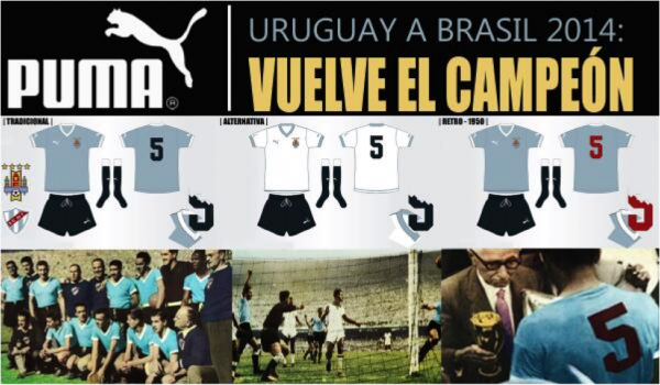 uruguay puma campaign 600x350 Uruguays Ghost Of 1950 Returns To Haunt Brazil In New Puma World Cup Campaign [VIDEO]