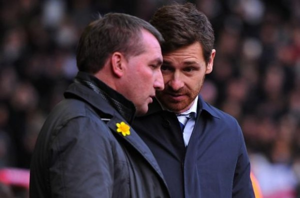 AVB BR 600x396 Liverpool Revels Under Brendan Rodgers Blueprint; Sacked Andre Villas Boas Should Take Note