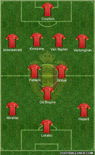 Belgium XI1 Belgium: World Cup 2014 Team Preview