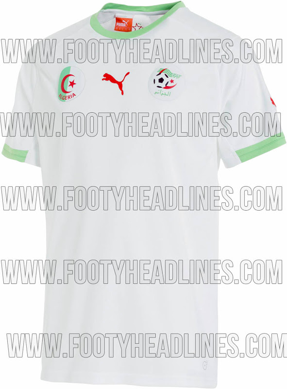 algeria world cup shirt 2014 tournament Algeria Home Shirt For World Cup 2014: Leaked [PHOTO]