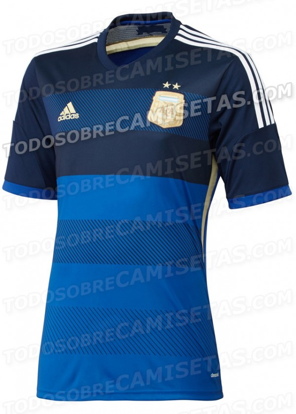 argentina away shirt world cup 600x837 Leaked Photos of World Cup Shirts That The 32 Teams Will Wear In Brazil