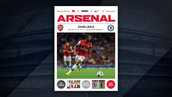 arsenal chelsea programme Arsenal vs Chelsea, Premier League Gameweek 17: Open Thread