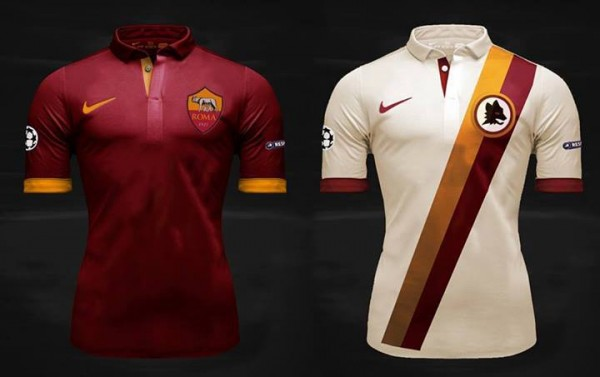 as roma home away shirts 600x377 AS Roma Home and Away Shirts for 2014/15 Season From Nike [PHOTO]