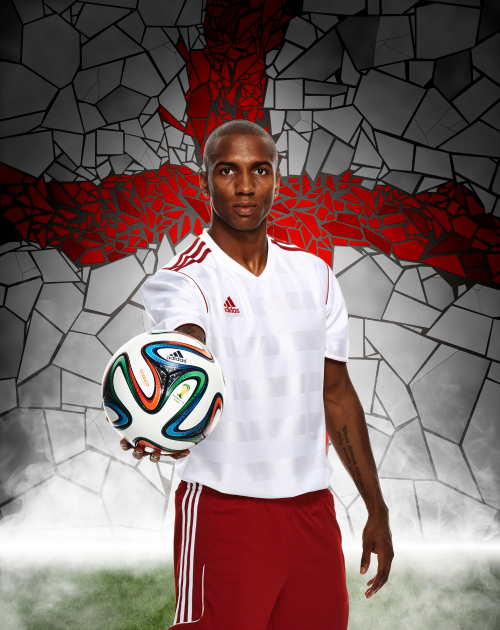 ashley young adidas Unveil Official 2014 World Cup Ball Named brazuca [PHOTOS]