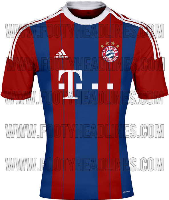 bayern munich home shirt 2014 15 season Bayern Munich Home Shirt For 2014/15 Season: Leaked [PHOTO]