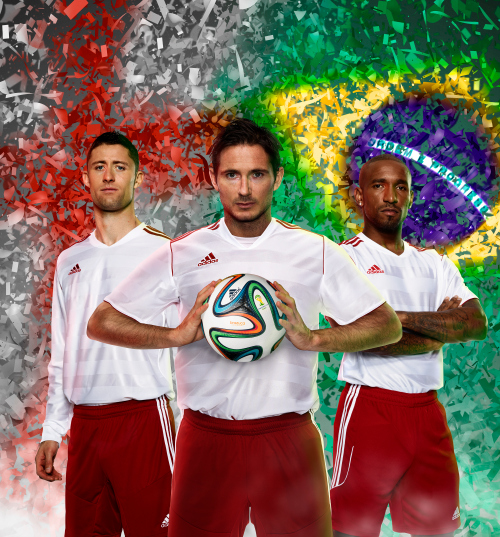 cahill lampard defoe adidas Unveil Official 2014 World Cup Ball Named brazuca [PHOTOS]