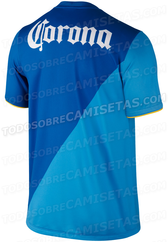 club america third shirt back Club America Third Shirt for 2014 Season: Leaked [PHOTOS]