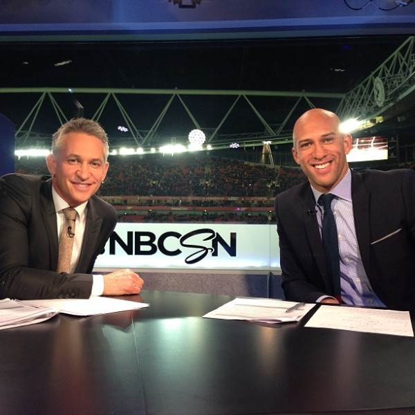 gary lineker tim howard 600x600 NBC Sports Scores A Winner With Its Unprecedented Coverage of Arsenal Chelsea Game