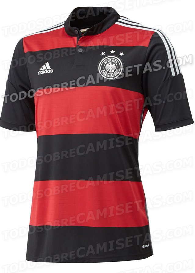 germany world cup away shirt front Leaked Photos of World Cup Shirts That The 32 Teams Will Wear In Brazil