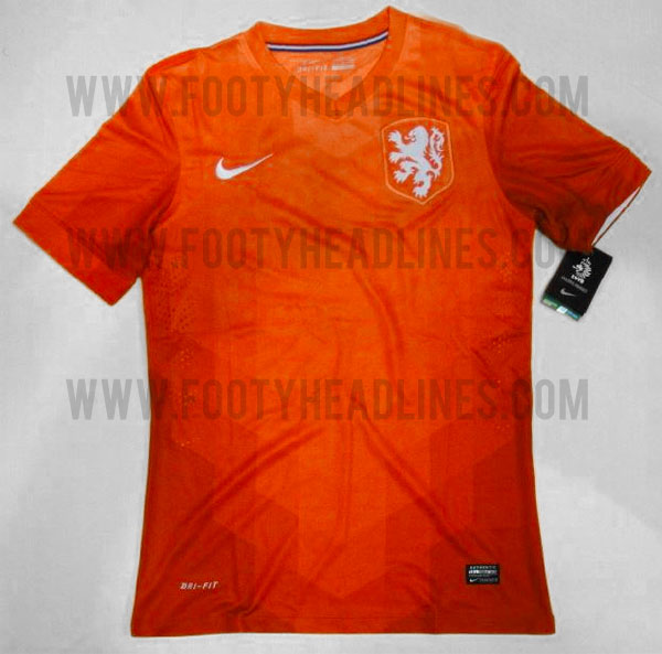 holland home shirt 2014 world cup Leaked Photos of World Cup Shirts That The 32 Teams Will Wear In Brazil