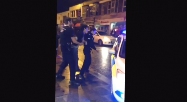 james tomkins 600x326 Footage of West Ham United Defender Being Arrested Outside Essex Nightclub [VIDEO]