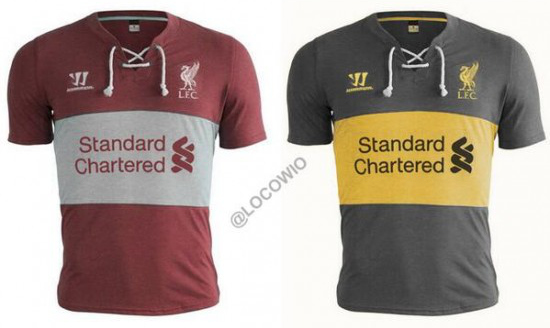 liverpool home away 2014 15 shirts1 Are These Liverpools Home And Away Shirts For The 2014/15 Season? [PHOTO]