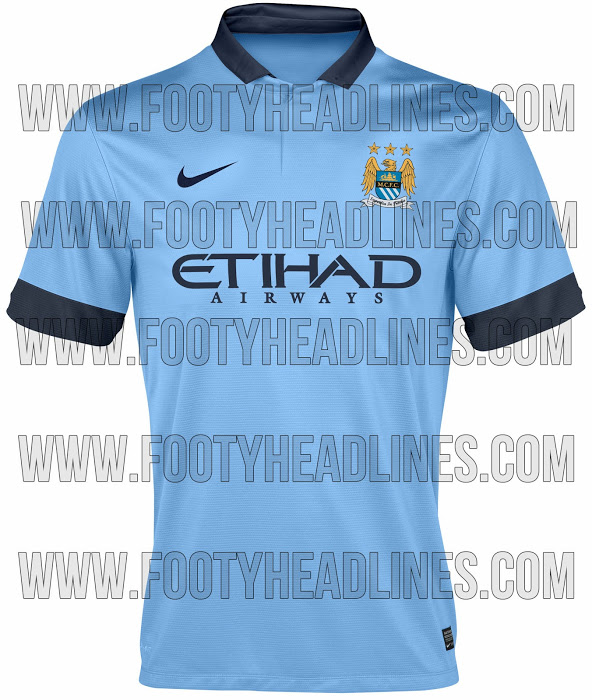 manchester city 2014 15 home shirt Manchester City Home Shirt for 2014 15 Season: Leaked [PHOTO]
