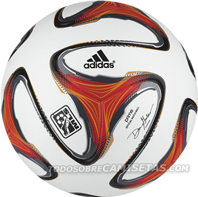 mls adidas 2014 ball Heres a Leaked Photo of the Ball That MLS Will Use In 2014 [PHOTO]