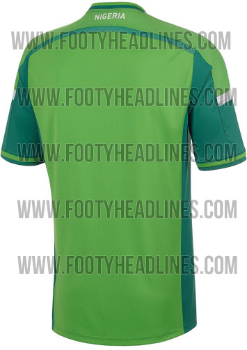 nigeria world cup shirt back 2014 Nigeria Home Shirt For World Cup 2014 In Brazil: Leaked [PHOTOS]