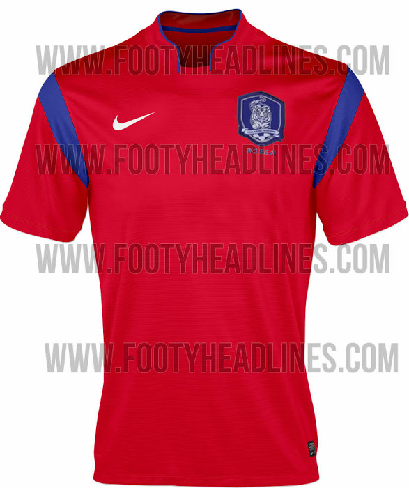 south korea home world cup shirt South Korea Home and Away Shirts For World Cup 2014: Leaked [PHOTOS]