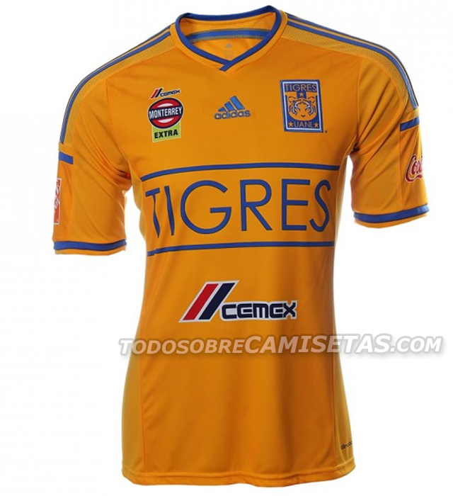 tigres unal front Tigres Home Shirt For 2014: Official [PHOTOS]