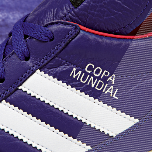 Samba Copa Mundial detail purple a adidas Release Limited Edition Copa Mundial Soccer Cleats [PHOTOS]