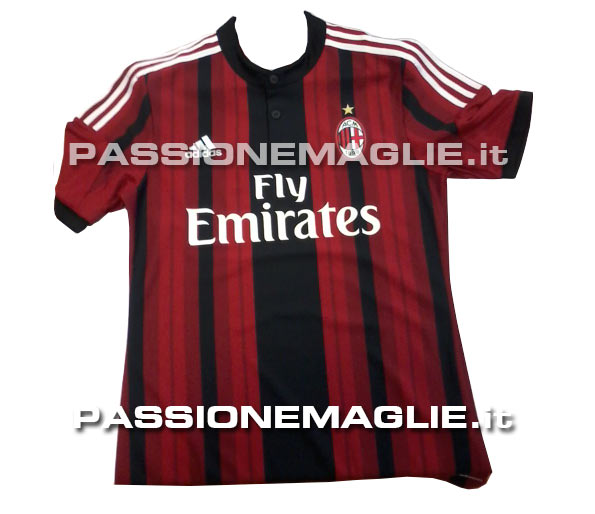 ac milan 2014 15 home shirt AC Milan Home, Away and Third Shirts For 2014/15 Season: Leaked [PHOTOS]