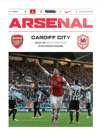 arsenal cardiff programme Arsenal 2 0 Cardiff: Late Goals Help Gunners Maintain First Place [VIDEO]