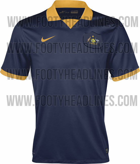 australia world cup shirt away Australia Home and Away Shirts For World Cup 2014: Leaked [PHOTOS]