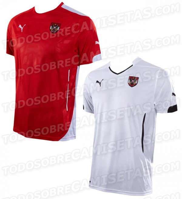 austria 2014 shirts 600x656 Austria Home and Away Shirts For 2014: Leaked [PHOTOS]