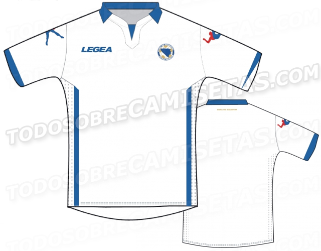 bosnia world cup shirt away Are These Bosnia and Herzegovinas Home And Away Shirts For World Cup 2014? Leaked [PHOTOS]