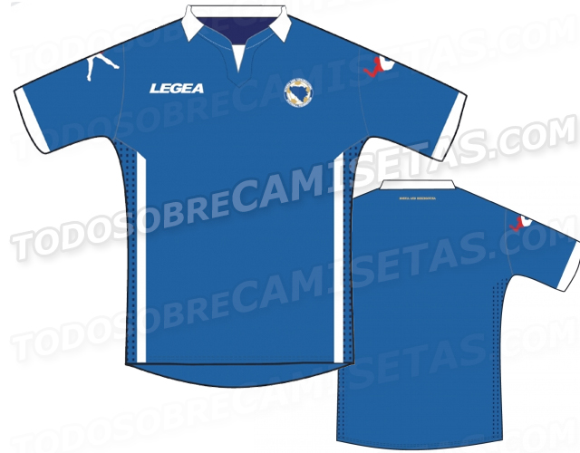 bosnia world cup shirt home Are These Bosnia and Herzegovinas Home And Away Shirts For World Cup 2014? Leaked [PHOTOS]