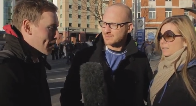 chelsea fan Manchester United Fan Trolls Chelsea Supporters Over Potential New Signings [VIDEO]