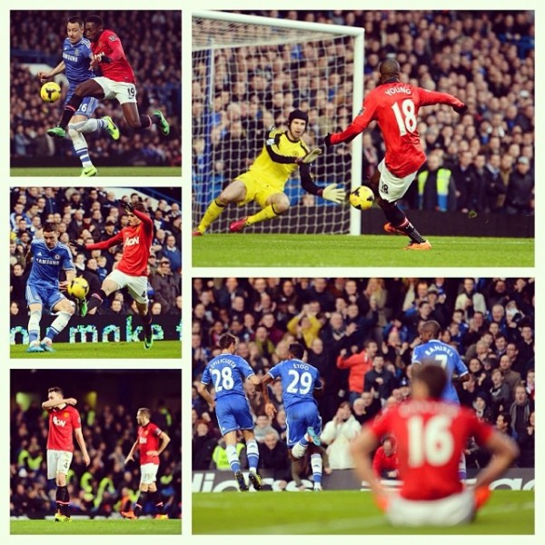 chelsea man united 600x600 Manchester United Defenders Let David Moyes Down In 3 1 Defeat to Chelsea