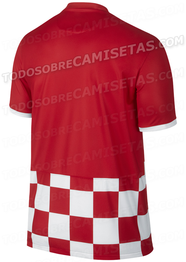 croatia world cup shirt back Croatia World Cup Shirt For 2014 From Nike: Leaked [PHOTOS]