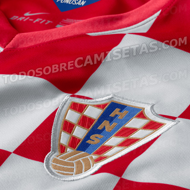 croatia world cup shirt closeup Croatia World Cup Shirt For 2014 From Nike: Leaked [PHOTOS]
