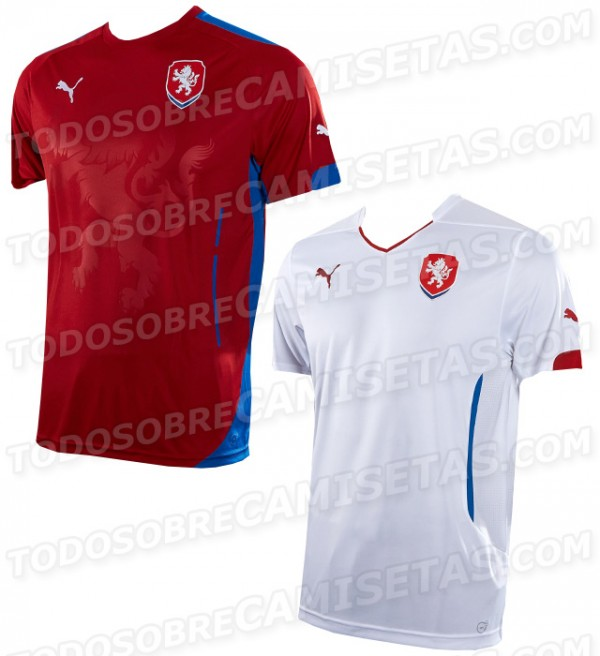 czech republic 2014 shirts 600x656 Czech Republic Home and Away Shirts For 2014: Leaked [PHOTOS]