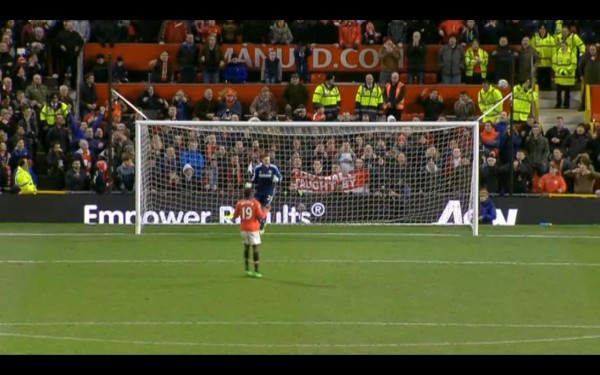 danny welbeck penalty 600x375 WATCH Manchester United vs Sunderland Match Highlights, League Cup Semi Final [VIDEO]