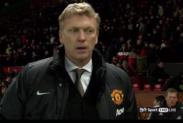 david moyes WATCH Manchester United Knocked Out of the FA Cup By Swansea City [GIF]