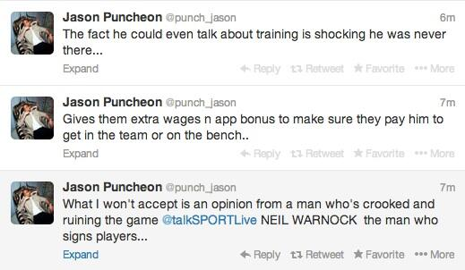 jason puncheon twitter Crystal Palaces Jason Puncheon Accuses Neil Warnock Of Taking Bungs
