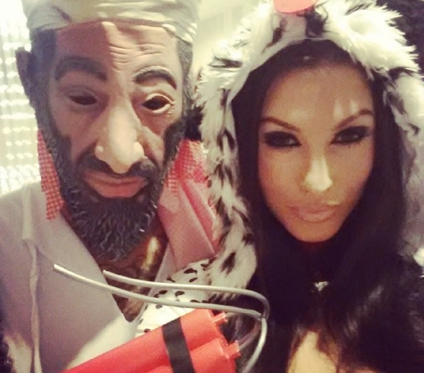 jermaine pennant costume Jermaine Pennant Wears Osama bin Laden Costume At New Years Eve Party [PHOTO]