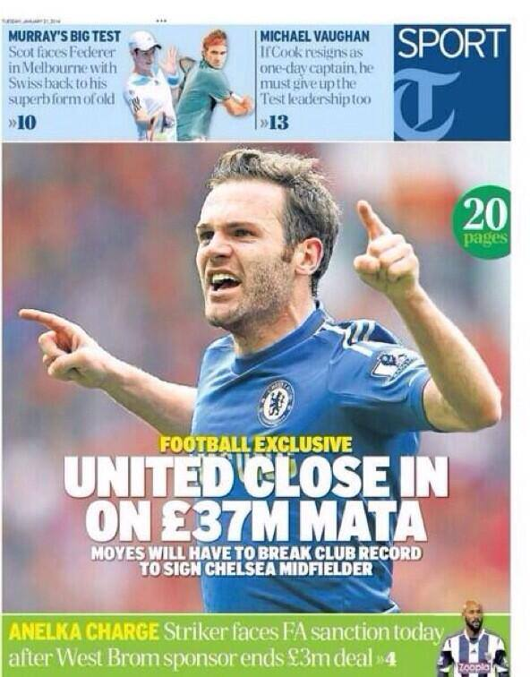 juan mata Manchester United Prepare to Make Record £37million Bid for Juan Mata: Nightly Soccer Report