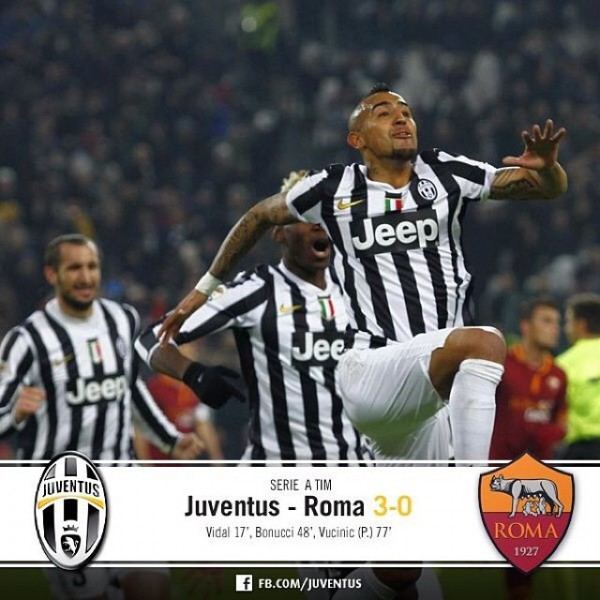 juventus 600x600 Juventus Defeat Roma 3 0 to Extend Lead At Top of Serie A Table