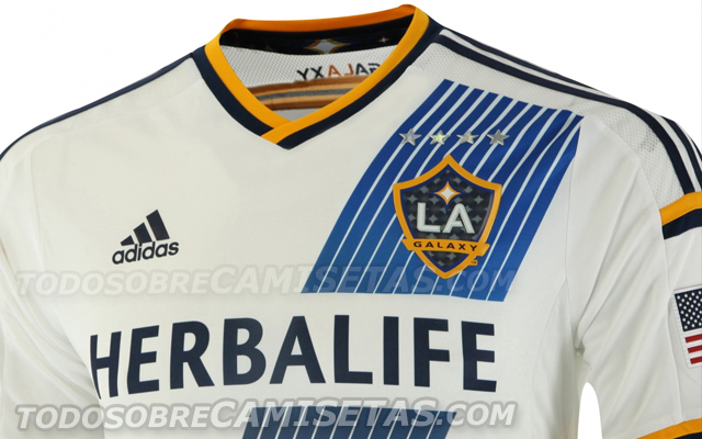 la galaxy home shirt header LA Galaxy Home Shirt For 2014 MLS Season: Leaked [PHOTOS]