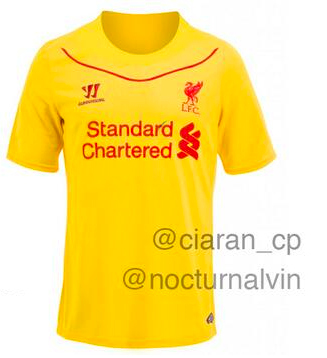liverpool 2014 15 away shirt Is This Liverpools Away Shirt For 2014/15 Season? [PHOTO]