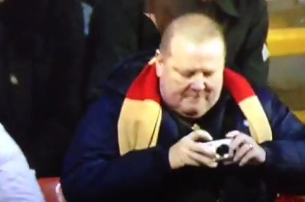 liverpool fan WATCH Liverpool Fan Sees the Funny Side Of Gabby Agbonlahor Fall [VIDEO]